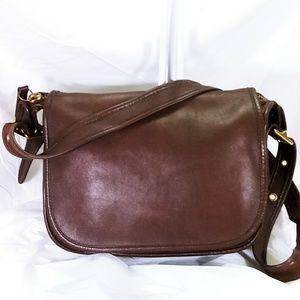 Coach Vintage Patricia Leather Flap Shoulder Bag